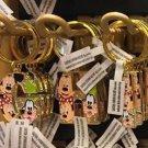 "Disney Parks Mickey Minnie & Goofy Initial Letter Keychain ""G / H / I"" New"