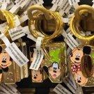 "Disney Parks Mickey Minnie & Goofy Initial Letter Keychain ""M / N / O / P"" New"