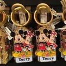 Disney Parks Mickey Minnie Pluto Keychain Taylor / Terry / Tiffany / Tina New