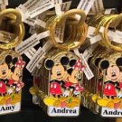 "Disney Parks Mickey Minnie Pluto Keychain ""Amy / Andrea / Andrew"" New"