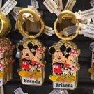 "Disney Parks Mickey Minnie Pluto Keychain ""Beverly / Brenda / Brianna"" New"