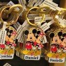 Disney Parks Mickey Minnie Pluto Keychain Cynthia / Daniel / Danielle New