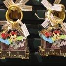 Disney Parks Pirate Mickey Metal Keychain #1 Son / #1 Teacher / #1 Tio New