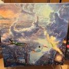 Disney Parks Peter Pan & Tinker Bell Canvas Wrap Print Thomas Kinkade Studios