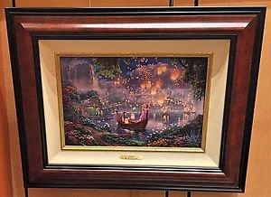 Disney Parks Thomas Kinkade Tangled LE Canvas Print by Thomas Kinkade Studios