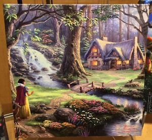 Disney Parks Snow White Canvas Wrap Print by Thomas Kinkade Studios New