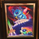 Disney Parks Stitch in Dreaming a Mountain of Trouble Canvas Print by Alex Maher