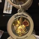 DISNEY PARKS GOLDEN MICKEY MOUSE EAR BOTTLE OPENER /  KEYCHAIN NEW