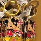 "Disney Parks Mickey Minnie Pluto Keychain ""#1 Police Officer / Poppy"" New"