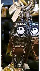 DISNEY PARKS COFFIN JACK SKELLINGTON NIGHTMARE BEFORE CHRISTMAS KEYCHAIN NEW