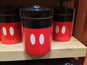 Disney Parks Signature Collection Mickey Mouse Ceramic Jar Multi Purpose New