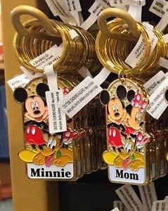 """Disney Parks Mickey Minnie Pluto Keychain """"Minnie / Mom"""" New With Tags"""