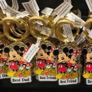 Disney Parks Mickey Minnie Pluto Keychain Best Dad / Best Friend / Best Mom New