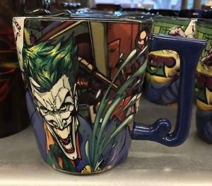 Six Flags Magic Mountain DC The Joker 12oz. Ceramic Mug Cup New