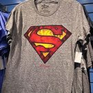 Six Flags Magic Mountain Gray Superman Men's T-Shirt SIZE: S,M,L XL,XXL New