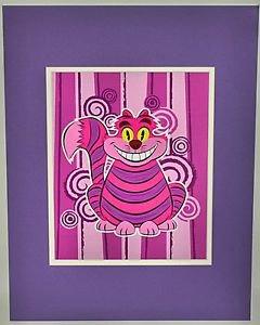 Disney WonderGround Gallery Daniel Hanke Sly Cheshire Cat Deluxe Print RARE!