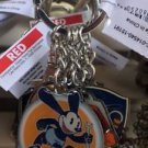 DISNEY PARKS OSWALD MICKEY GOOFY AND DONAL 4 CHARMS METAL KEYCHAIN NEW