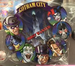 Six Flags Magic Mountain DC Villains Gotham City Acrylic Magnet New
