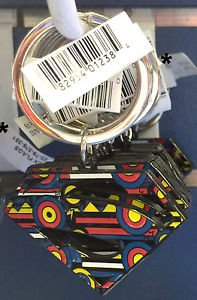 Six Flags Magic Mountain Superman Shield Keyring Metal Keychain New