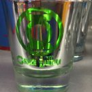 Six Flags Magic Mountain DC Green Lantern Logo Electroplated Shot Glass New