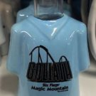 Six Flags Magic Mountain T-Shirt Shot Goliath Ceramic Shot Glass New
