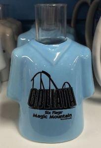 Six Flags Magic Mountain T-Shirt Shot Goliath Ceramic Shot Glass New