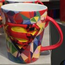 Six Flags Magic Mountain DC Superman Abstract Ceramic Mug New