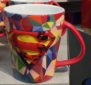 Six Flags Magic Mountain DC Superman Abstract Ceramic Mug New