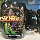 Six Flags Magic Mountain Twisted Colossus 16oz. Ceramic Black Mug Cup New