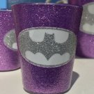 Six Flags Magic Mountain DC Batman Glitter Accent Purple Shot Glass New