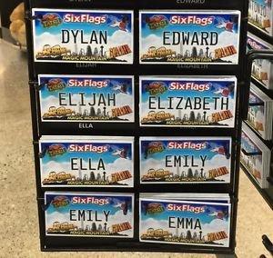 Six Flags Magic Mountain Name Magnet Dylan Edward Elijah Elizabeth Ella Emiy Emm