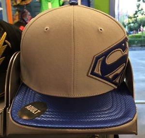 Six Flags Magic Mountain Superman Gray/Blue Adjustable Snapback Hat Cap New