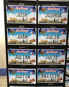 Six Flags Magic Mountain Name Magnet Josh Joshua Juan Julia Julian Julie Justin