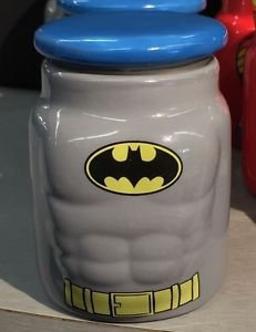 Six Flags Magic Mountain DC Batman Molded Chest 6oz. Ceramic Jar New