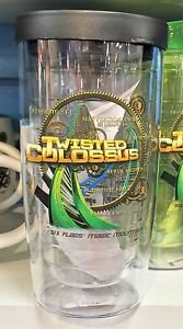 Six Flags Magic Mountain Twisted Colossus 20oz. Travel Tumbler Mug Cup New