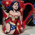 Six Flags Magic Mountain DC Wonder Woman Red Ceramic Mug New