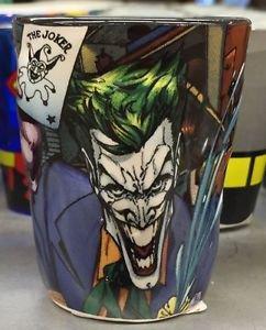 Six Flags Magic Mountain DC The Joker Ceramic Shot Glass Toothpick Holder New