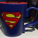 Six Flags Magic Mountain DC Superman Logo Dragon Handle Matte Finish Mug New