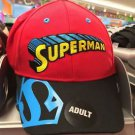 Six Flags Magic Mountain Vintage Superman Logo Adjustable Snapback Hat Cap New