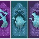 Disney WonderGround The Haunted Mansion Hitchhiking Ghost Postcard Set New