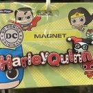 Six Flags Magic Mountain DC Harley Quinn PVC Magnet New