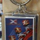 Six Flags Magic Mountain X-2 Clear Acrylic Keyring Keychain New