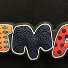 Six Flags Magic Mountain DC Batman Colorful Lettering Magnet New