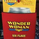 Six Flags Magic Mountain DC Justice League Wonder Woman Can Koozie New
