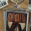 Six Flags Magic Mountain Goliath Clear Acrylic Keyring Keychain New