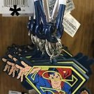 Six Flags Magic Mountain DC Justice League Superman Carabiner Keychain New