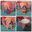 Six Flags Magic Mountain DC Supergirl Wonder Woman Batgirl Ceramic Mug Cup New