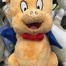 "Six Flags Magic Mountain Looney Tunes Baby Porky Pig 8"" Mini Plush New"