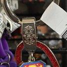 Six Flags Magic Mountain DC Superman Heart Shape Keychain New