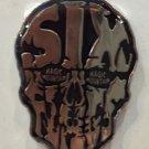 Six Flags Magic Mountain Skull Face Metal Magnet New
